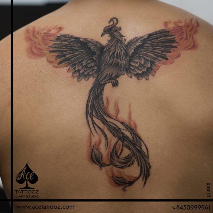 Phoenix Back Tattoo Designs For Men Places To Visit Pinterest