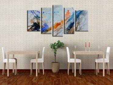 Art abstrait t ches d 39 encre sur toile pas cher tableau abstrait reproduction tableau et toile - Reproduction tableau sur toile pas cher ...
