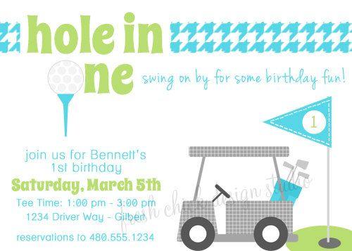 Golf Theme Birthday Printable Party Invitation - Birthday or Baby - fresh birthday party invitation designs