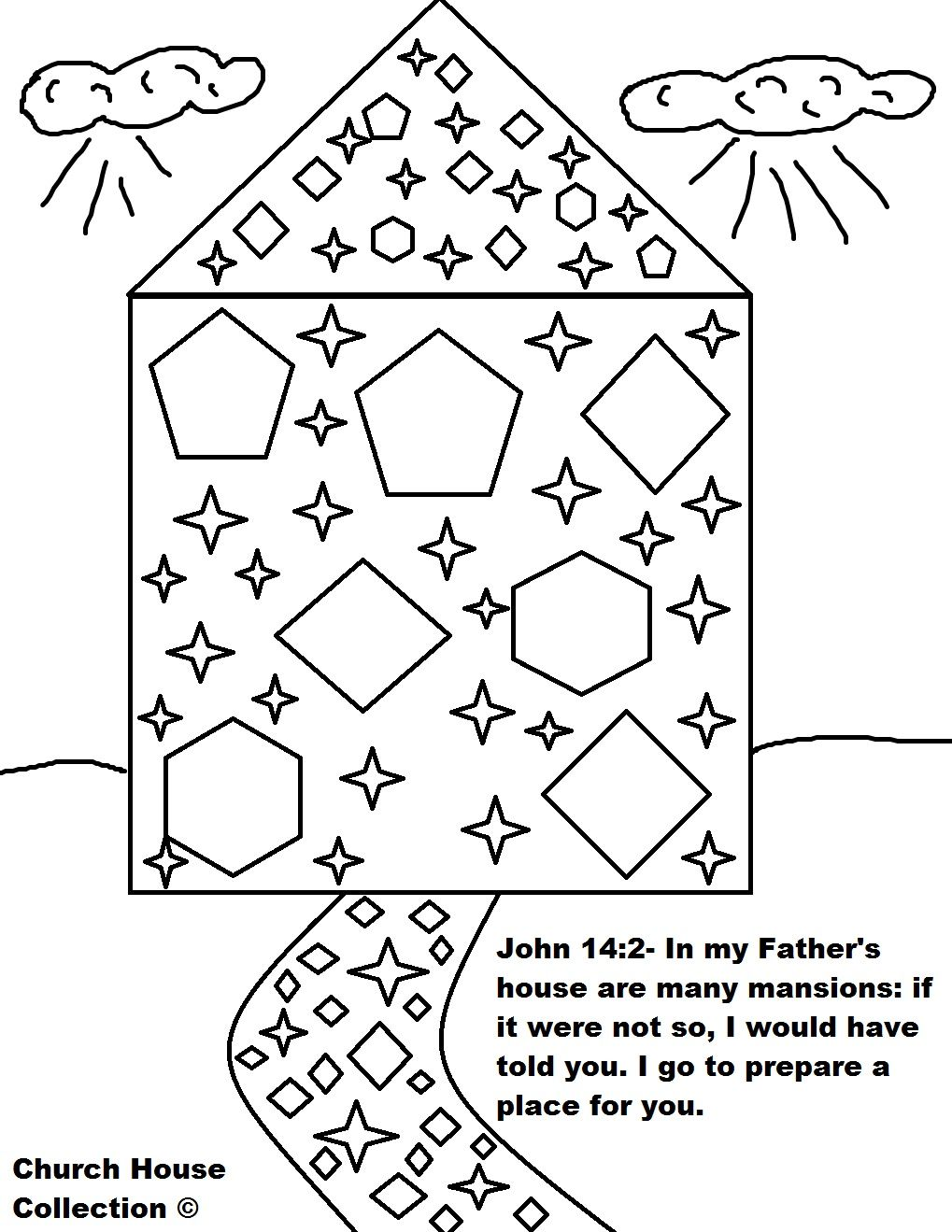 Free coloring pages elijah goes to heaven - Mansions In Heaven And Steets Of Gold John 14 2 In My Father S House Are Many Mansions Coloring Page Jpg 1019 1319 Bijbelonderwijs Bidden Pinterest