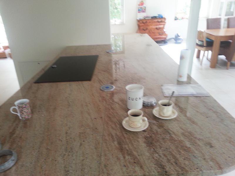 Aufmaß, Lieferung und Montage der #Granit #Arbeitsplatten - küchenarbeitsplatten online bestellen