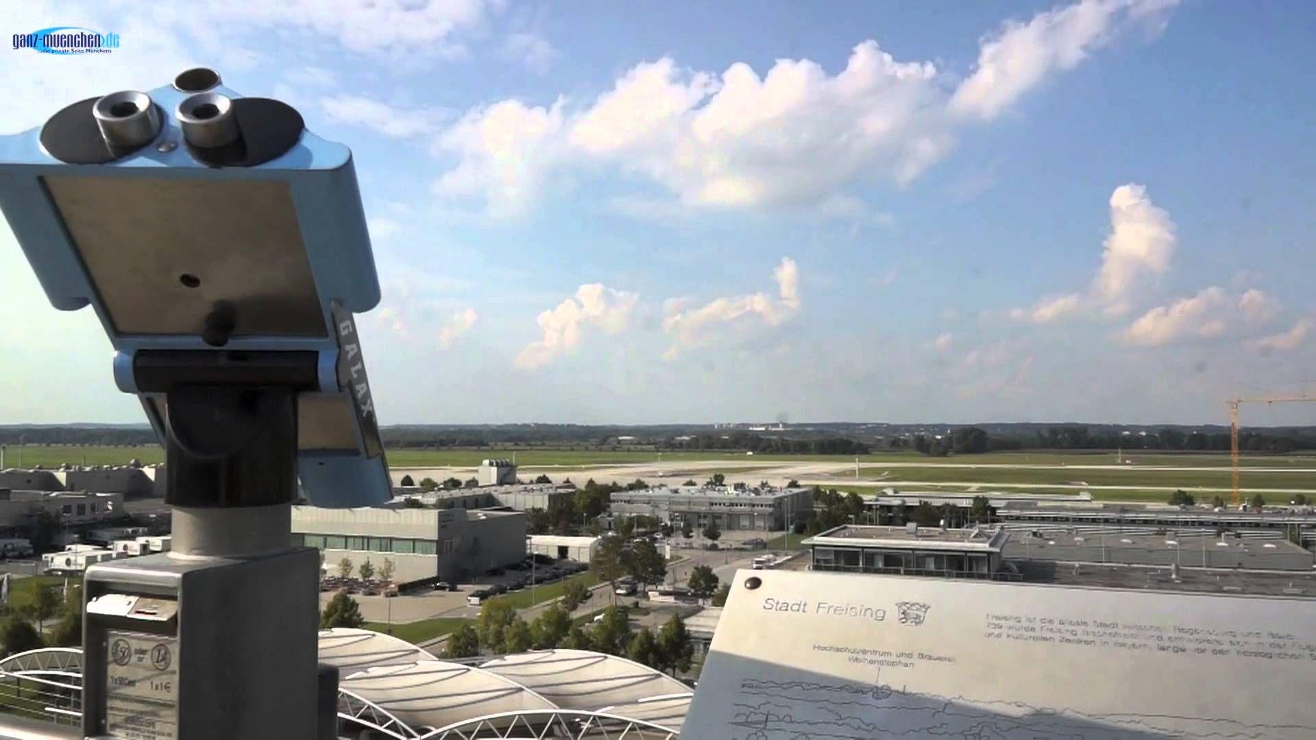 Besucherpark mit Besucherhügel Flughafen München
