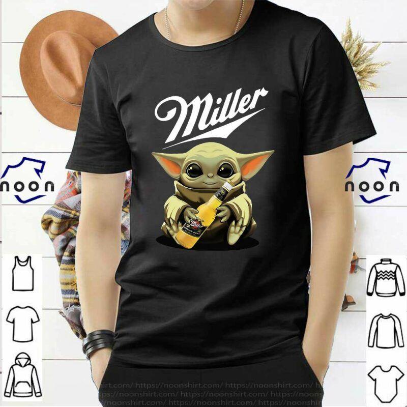 Star Wars Baby Yoda Hug Miller Genuine Draft Shirt In 2020 Draft Shirt Shirts Star Wars Baby