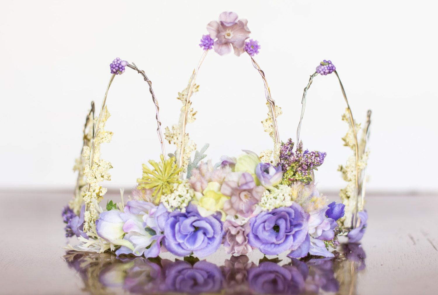 Flower crown lavender wire crown fairy crown flowergirl flower crown lavender wire crown fairy crown flowergirl hairpiece summer wedding izmirmasajfo