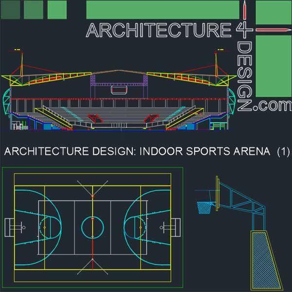 Sport Complex Arena Architecture Design Autocad