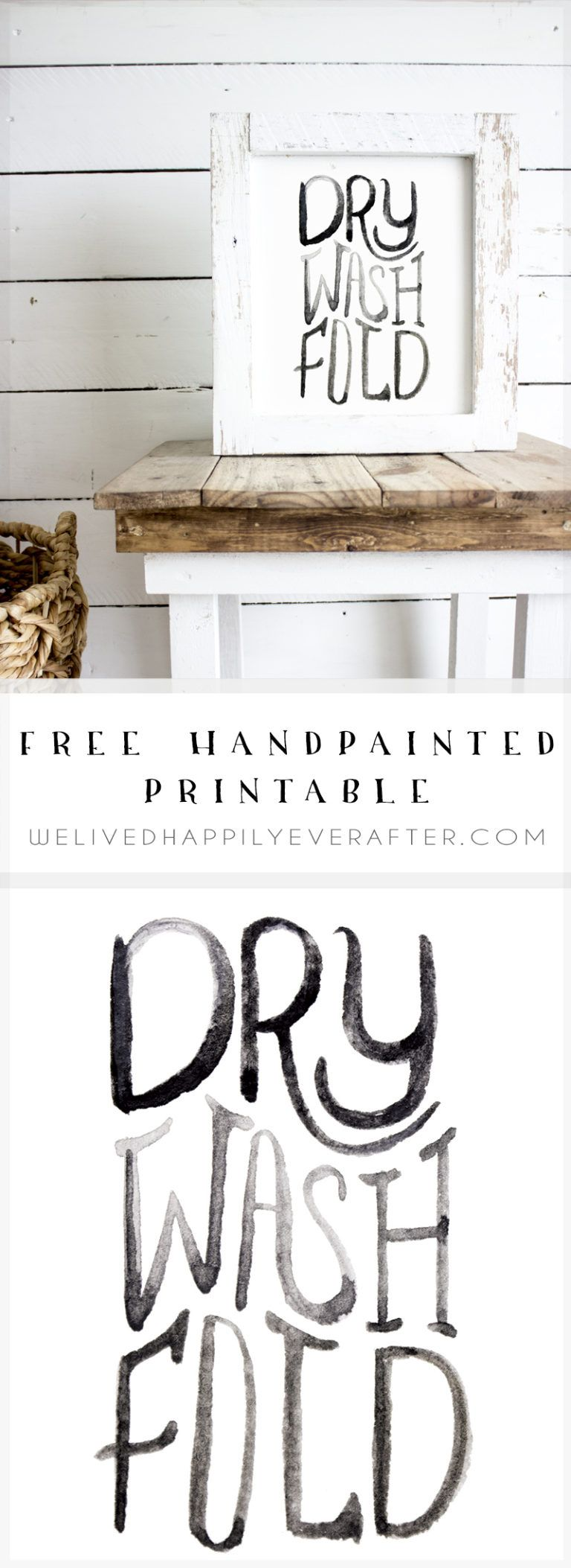 Dry Wash Fold Printable Laundry Room Artwork To Go Above Your Washer