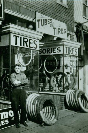 Photograph from the 1930s of Gilbert's Bicycle Shop ...