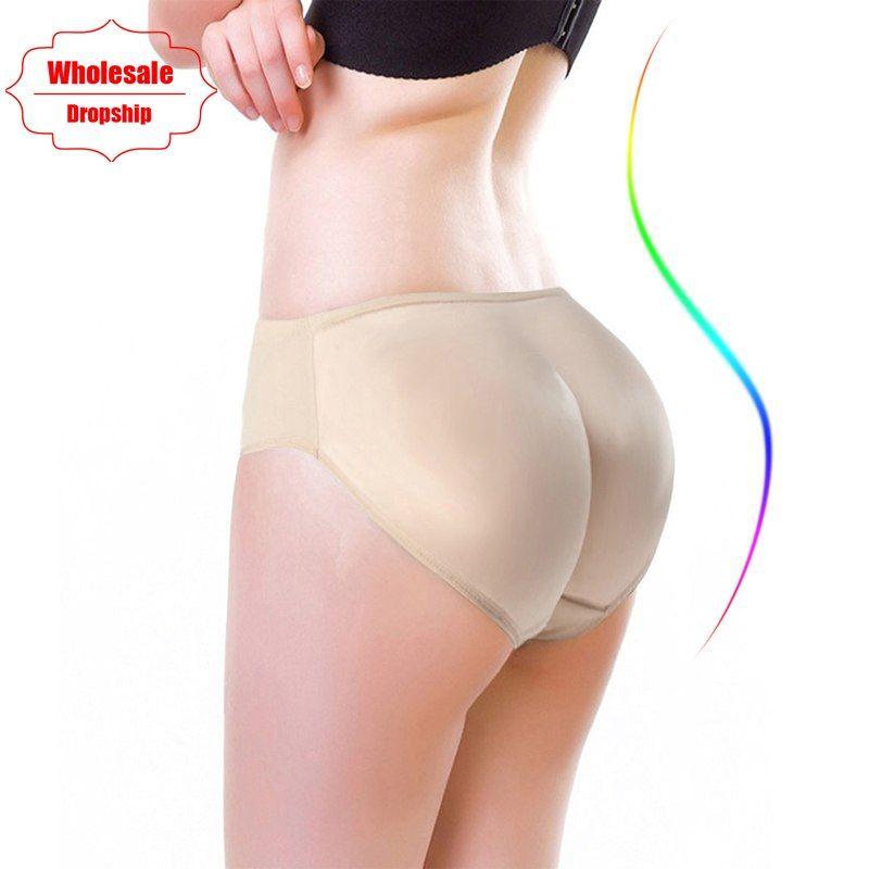 fd3690186e5 NINGMI Hot Shaper Boyshort Push Up Control Panties Women Big Ass Underwear  Fake Butt Pad Waist