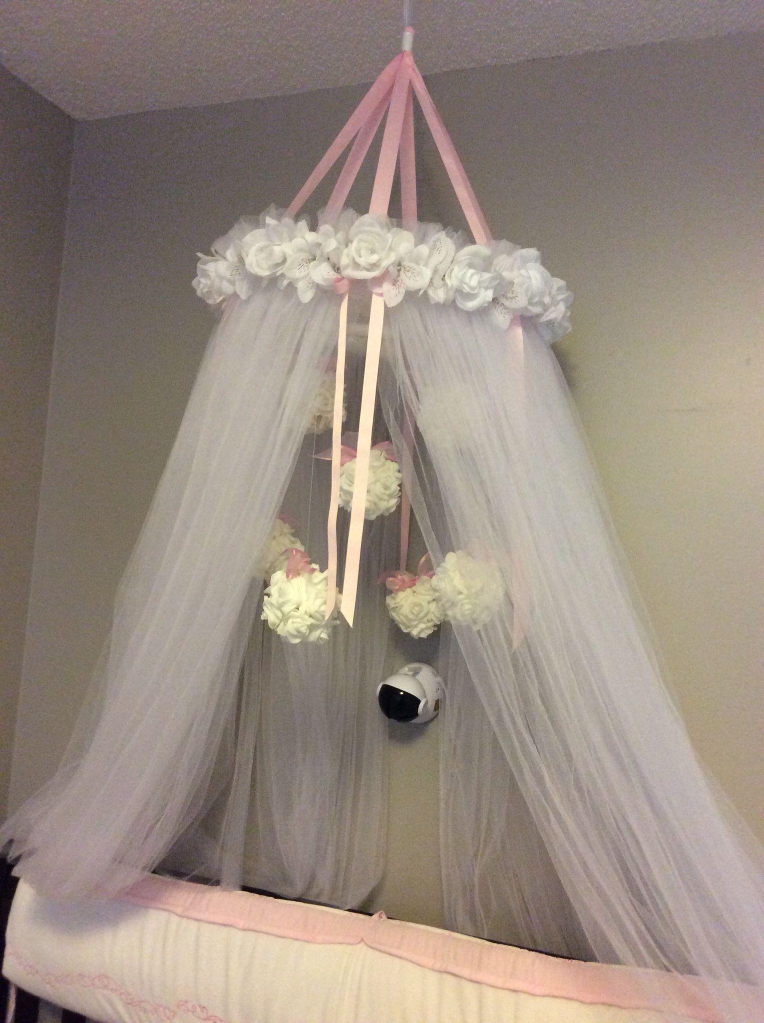 Diy baby princess canopy over crib girl with
