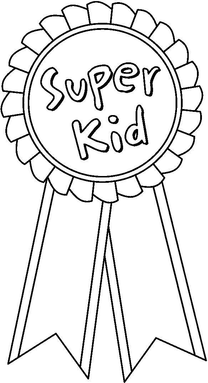 Award Ribbon Coloring Page