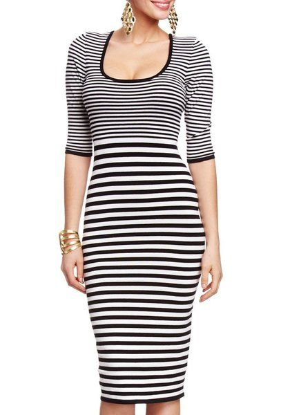 2B Lauren Stripe Midi Sweater Dress by bebe