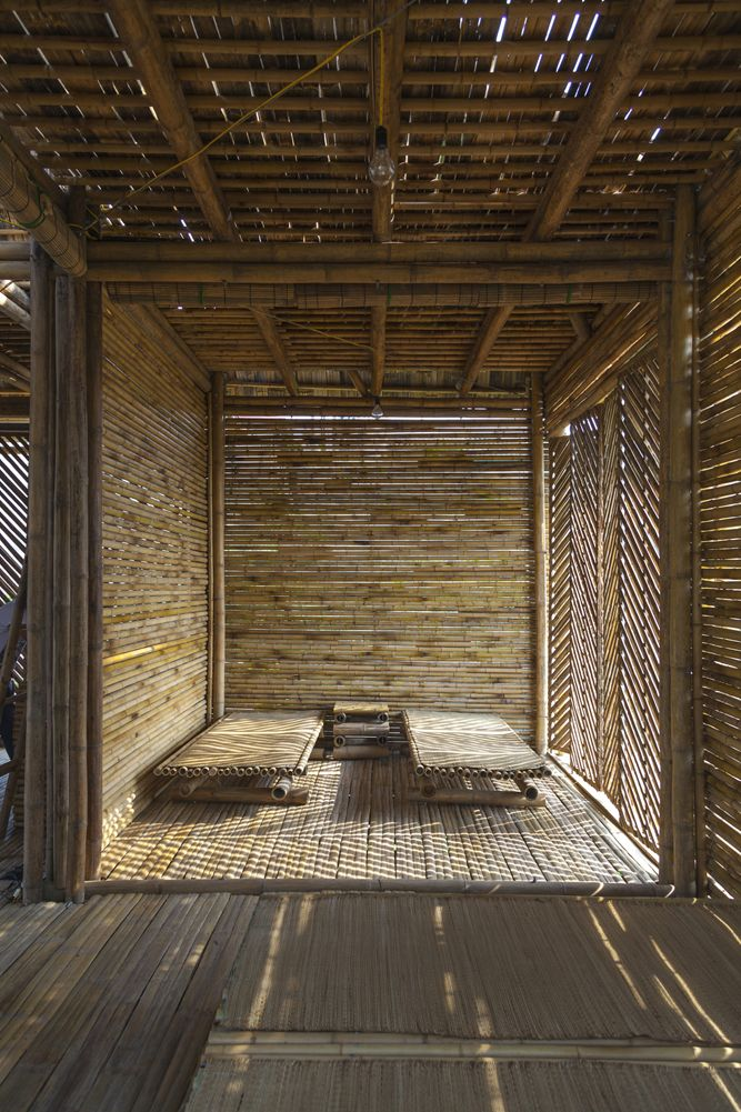 Bamboo Rooms Light And With Air Monolithos Dezeen Blooming
