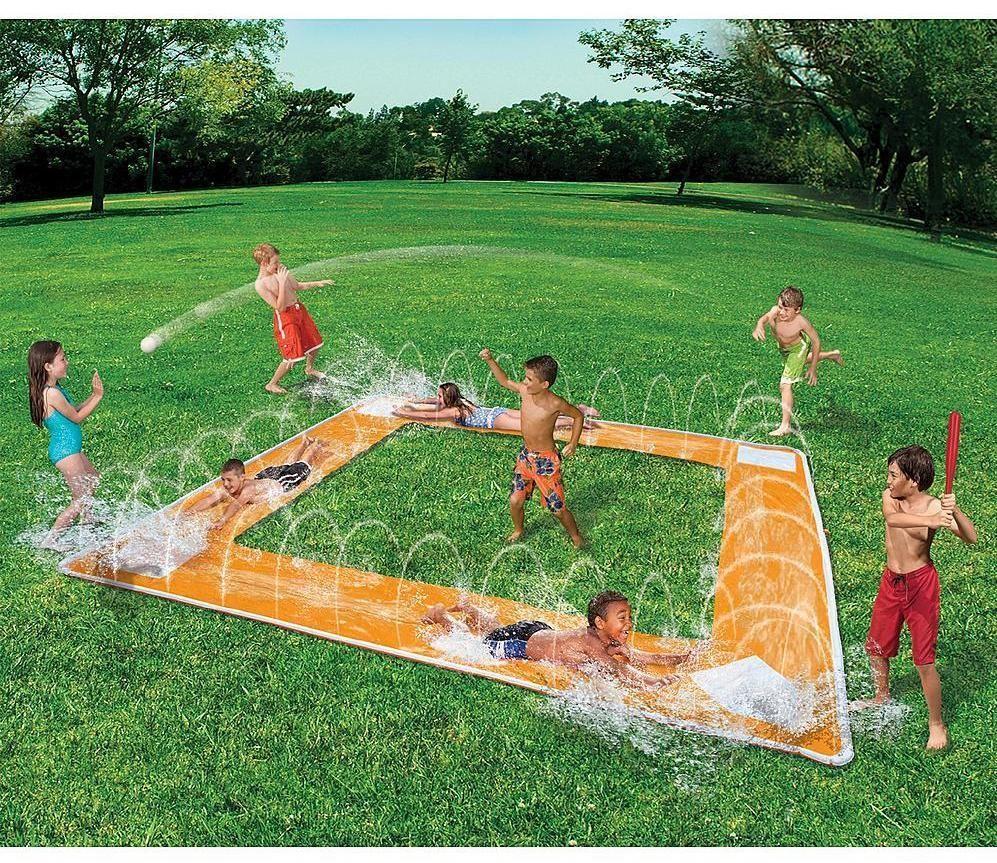 garden water slide outdoor beach baseball play water game toy