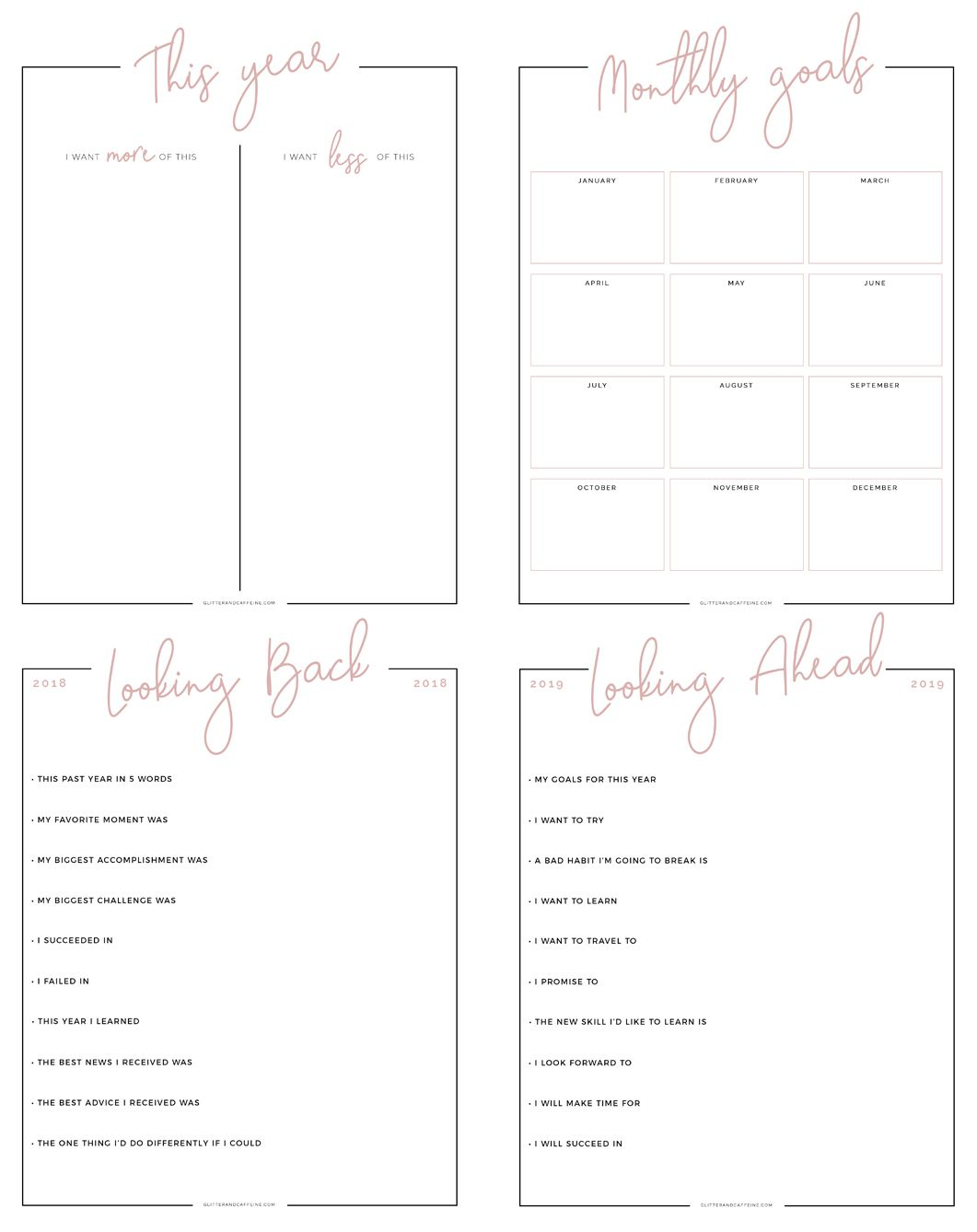 New Year S Goals Amp Resolutions Free Printables In