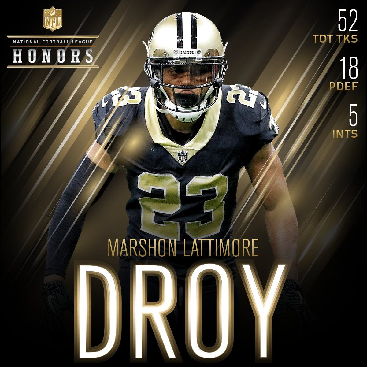 ef2cabb4f New Orleans Saints . Saints CB  shonrp2 is the 2017 Defensive Rookie of the  Year!  NFLHonors .