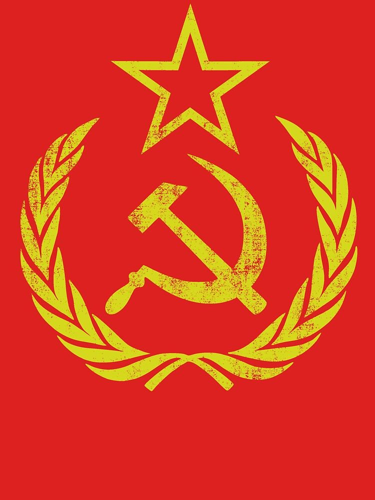 Communist Flag Hammer Sickle Vintage Retro Essential T Shirt By Chocodole Hammer And Sickle Retro Tshirt Revolution Poster