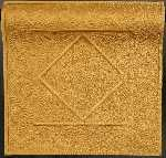 """""""Threads of Gold"""" by Mildred Sorrells (Macomb, IL, USA). Third place in 'Miniature Quilts' at the 2011 'Road to California' Quilt Show. Size: 12 in by 12 in."""