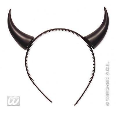 1X Halloween Adult Devil horns Black Floral Headband Fancy Dress Hairband Ladies
