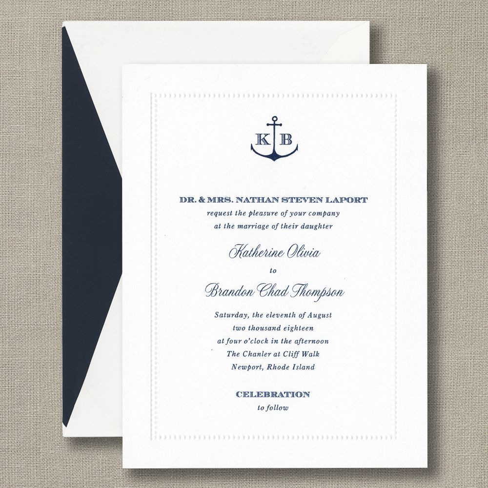 White Beaded Border Invitation With Monogram New Weddings Volume