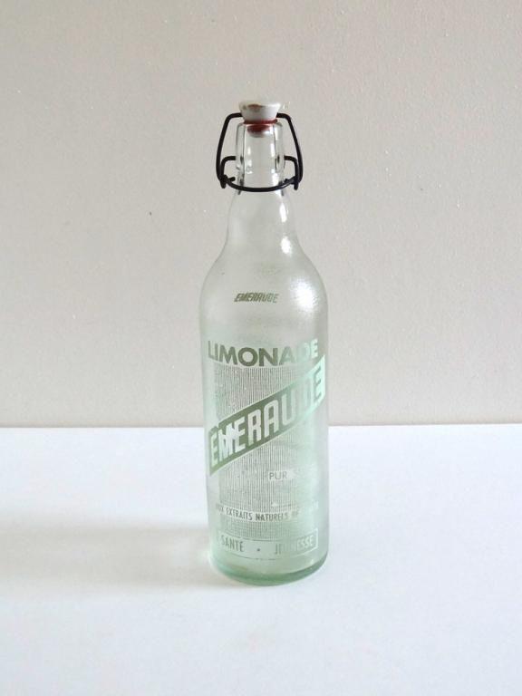 Bouteille de limonade vintage années 50 Emeraude | Botellas ...