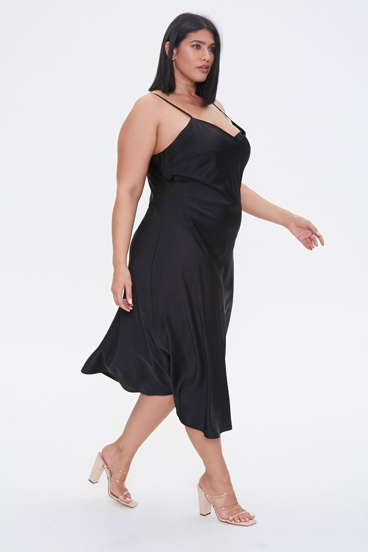 Plus Size Satin Midi Slip Dress Slip Dress Outfit Satin Slip Dress Slip Dress [ 1125 x 750 Pixel ]