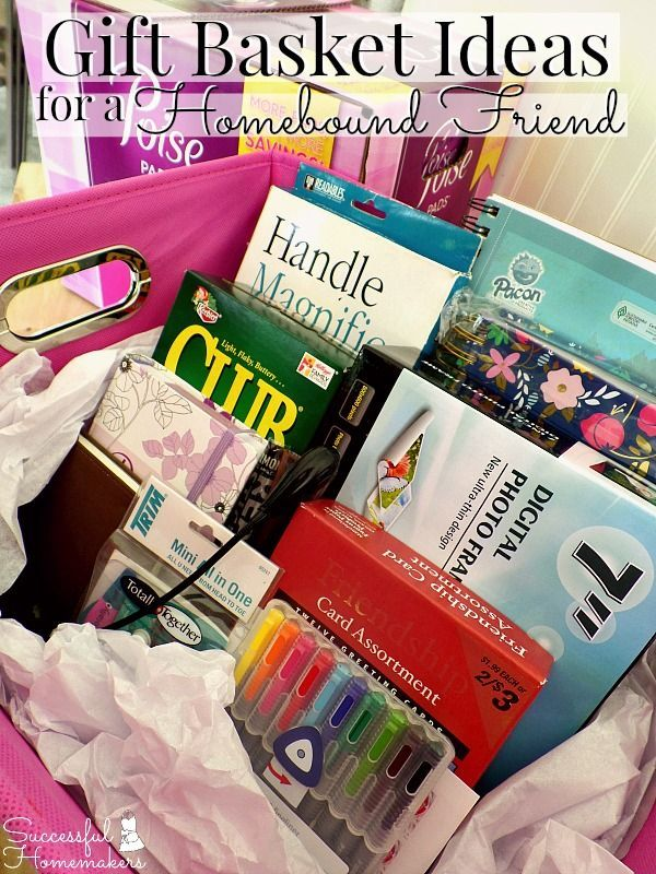 gift basket ideas for a homebound friend basket ideas and gift