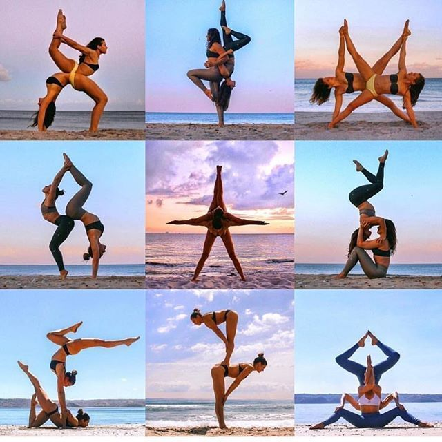 At Yoga Chicas we love to team up! @yogacertified # teamwork # partners #doubles #y… - Yoga & Fitnes...