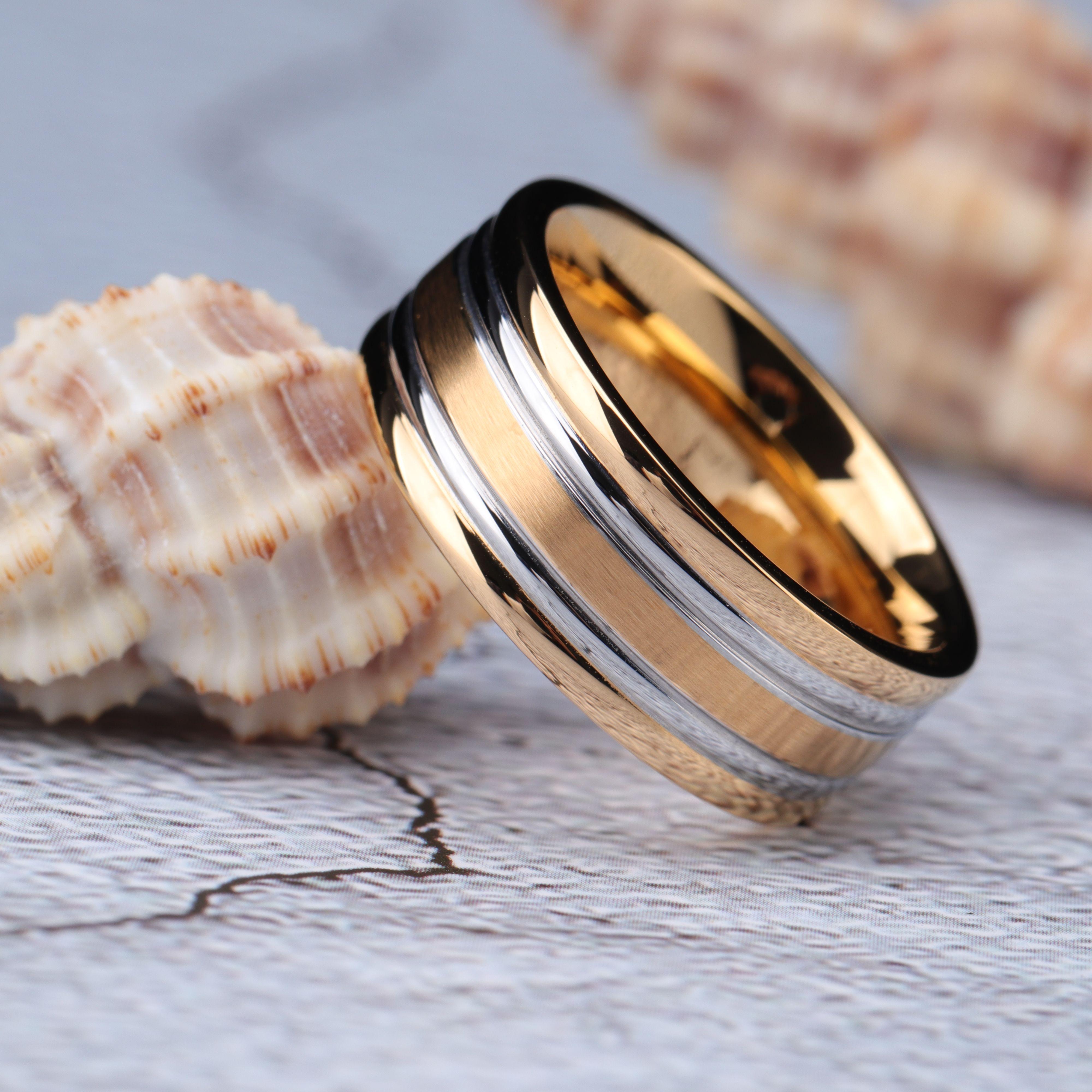 Gold Silver Wedding Bands Find U Rings Wedding Rings Titanium Wedding Rings Silver Ring Designs