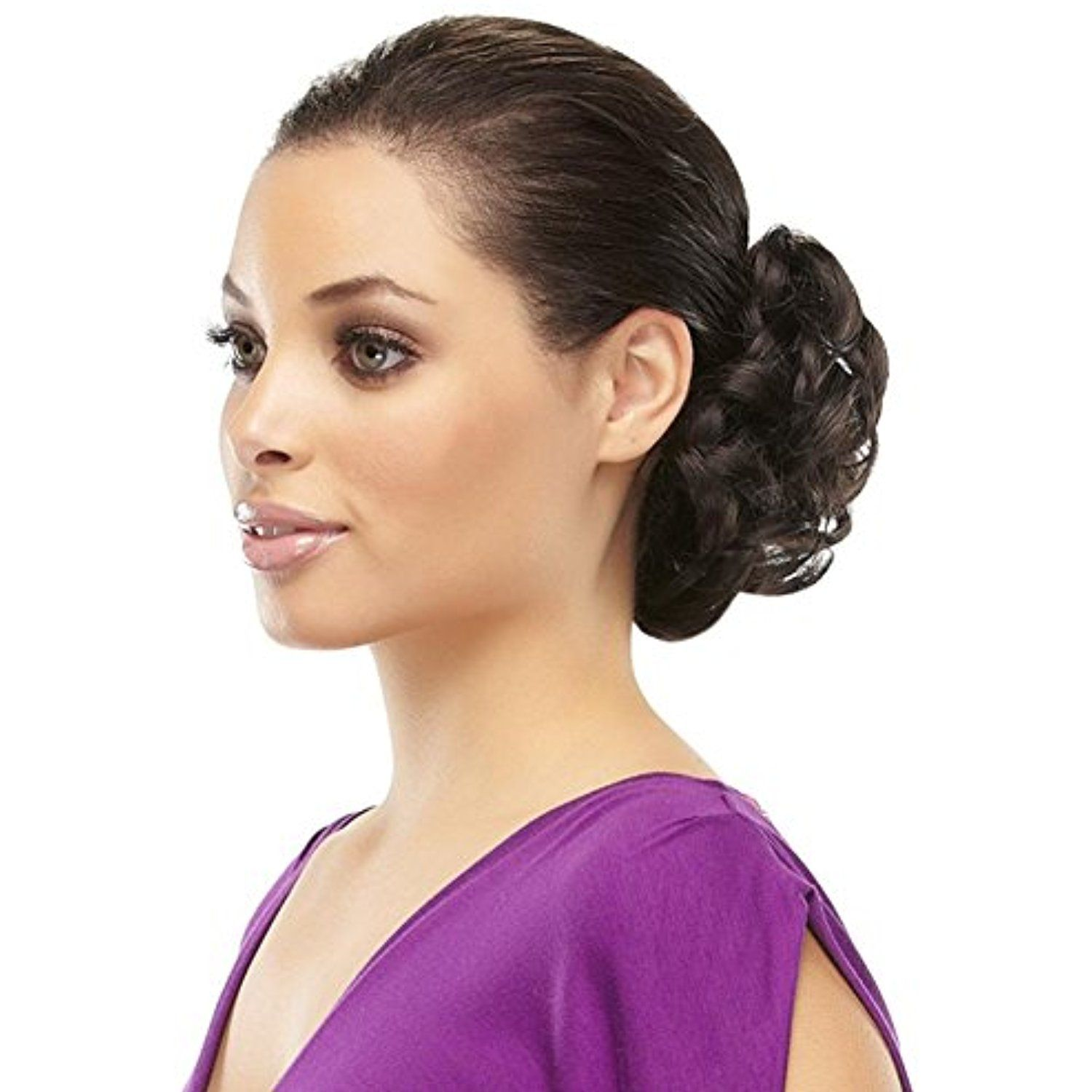 Funbun Curly Synthetic Hair Wrap Elastic Band Women s Hairpiece