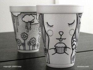tazze illustrate della designer Boey