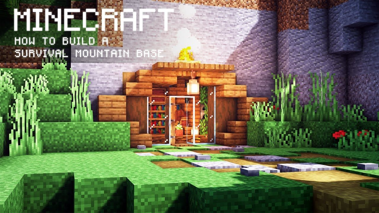 Minecraft  How To Build A Survival Mountain Base In 2020