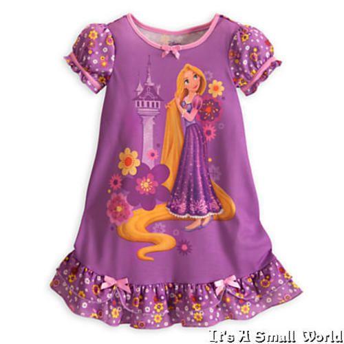 NWT Disney Store Pink Disney Princess Nightgown Nightshirt Sleepwear Girls 4 7 8