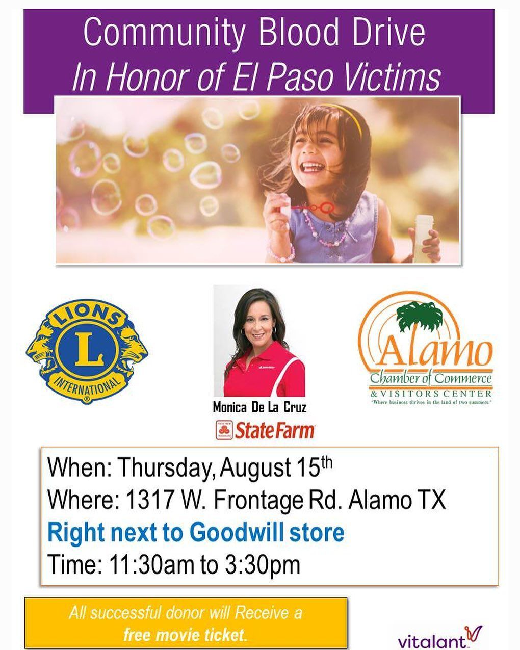 In Honor Of The El Paso Victims Please Come By And Bring A Friend