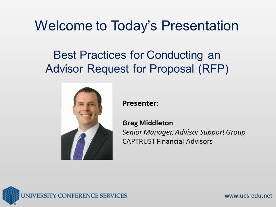 Best Practices For Conducting An Advisor Request For Proposal Rfp
