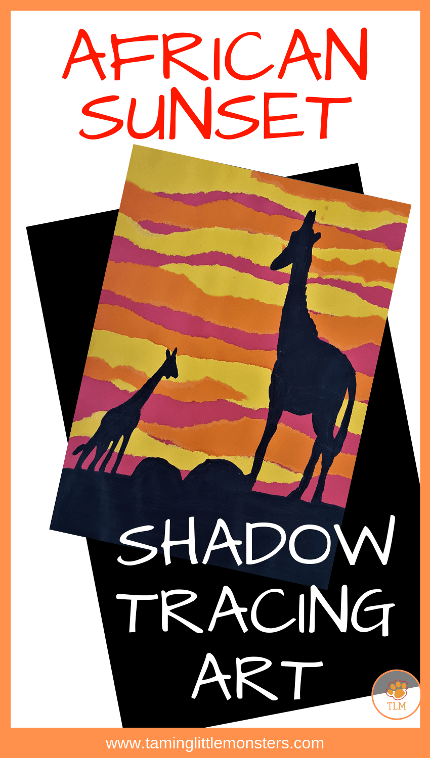 African Sunset Shadow Tracing Art