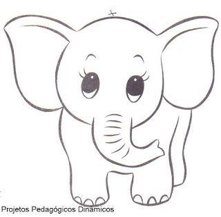 Moldes Vazados Aplique De Elefante Elefante Para Colorir