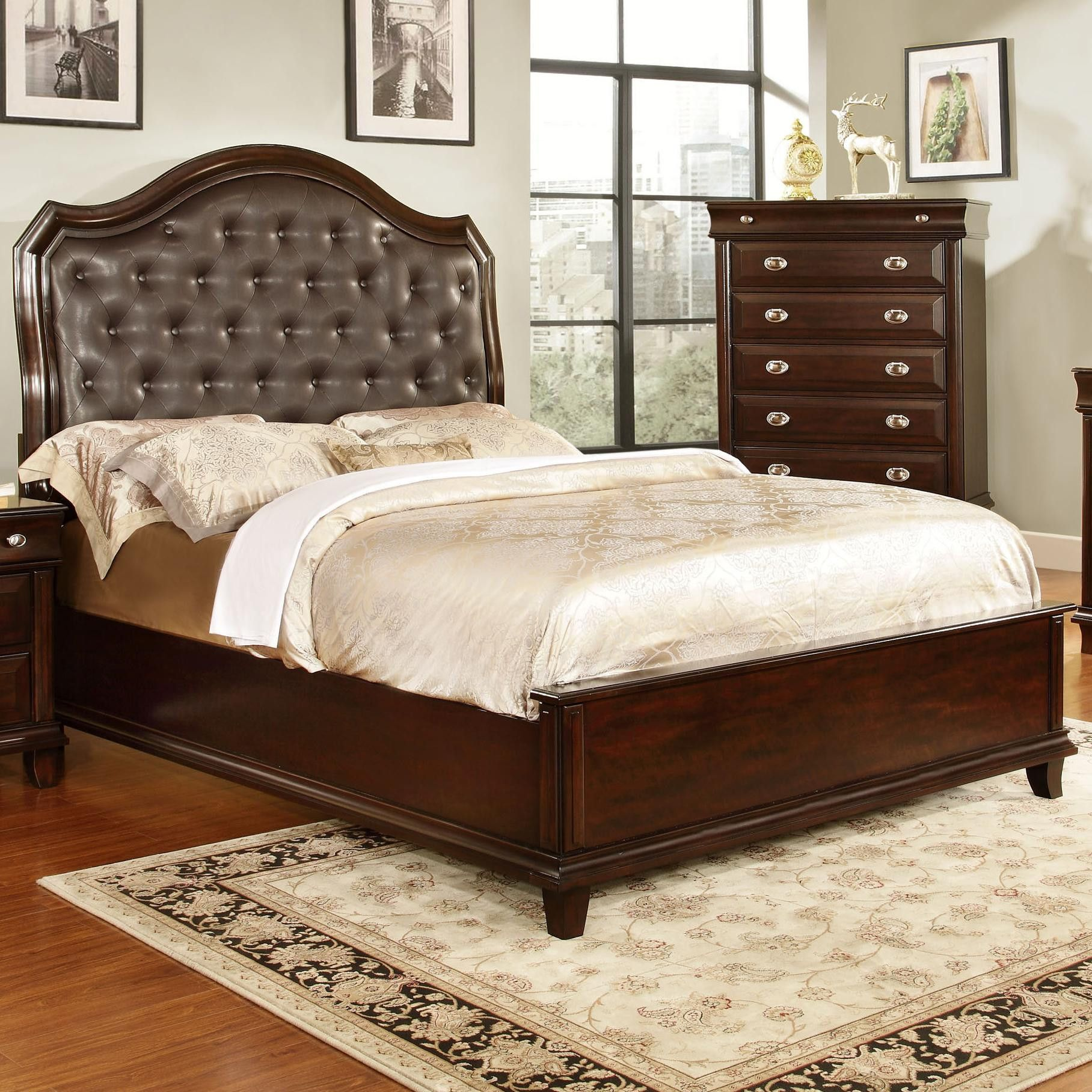 Geoffrey Upholstered Bed with Low Profile Footboard