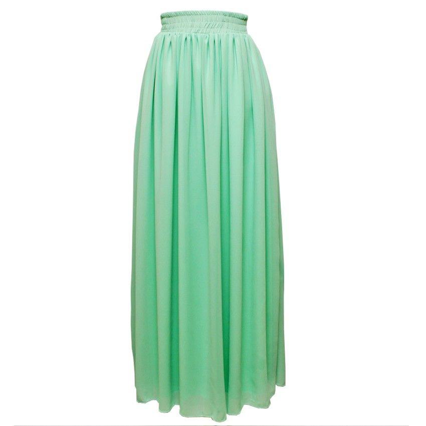 Teal maxi skirt