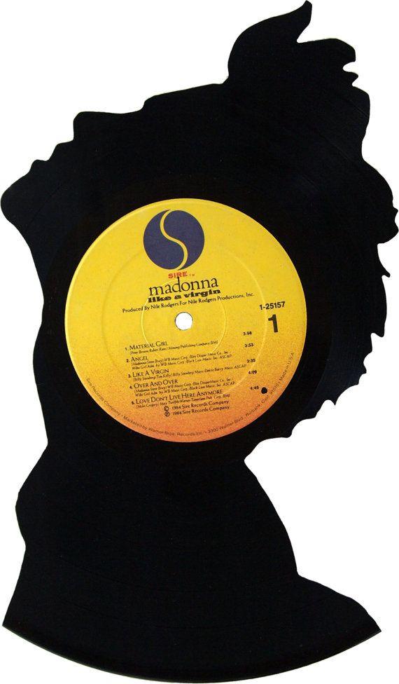 Madonna Silhouette Vinyl Record Art by RecordsRedone on Etsy, $40.00 ...