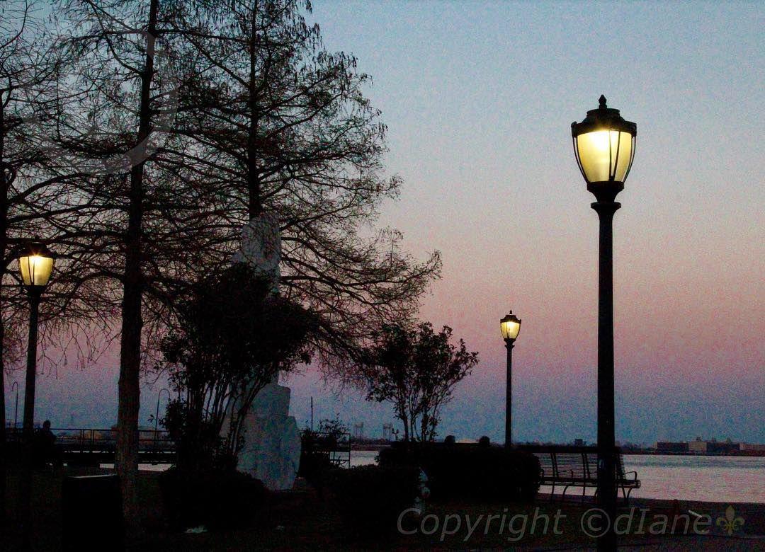 Moon Walk Dusk- New Orleans Riverfront #nola#followyournola#thatLAcommunity#jj_louisiana#alwaysneworleans#igersnola#smileneworleans#defendneworleans#moonwalk#riverview#art#dusk#trustalocal#streetlight#sky#nature#frenchquarter#vieuxcarre#pink#blueskies#showmeyournola#show_us_mystery#onlylouisiana by dragoneyz21