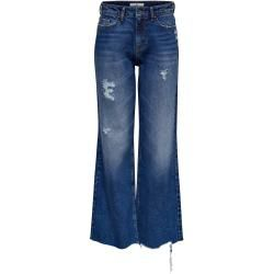 Photo of Only Jdyselma Wide High Destroy Flared Jeans Damen Blau Only