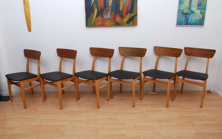 Mid Century Modern Japanese Dining Chair Set of Six. AFM ...