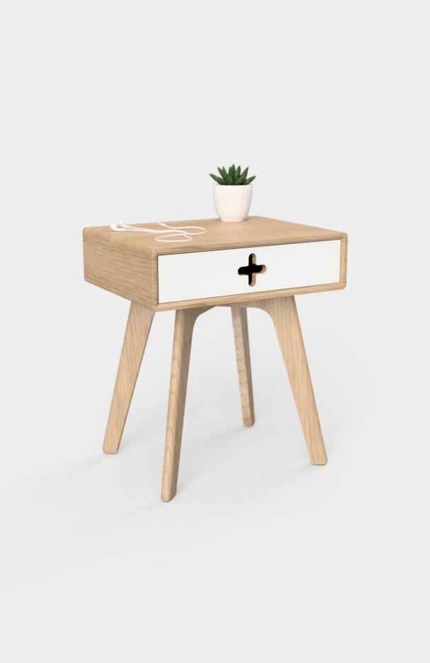 Modern Nightstand Nightstand Maple Nightstand Bedside Table