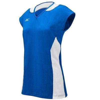 a854ded101f Mizuno Womens Volleyball Apparel - Classic Mystic Cap Sleeve Jersey -  440413 Size Extra Extra Small Red-White (1000) #Mystic, #Classic, #Sleeve