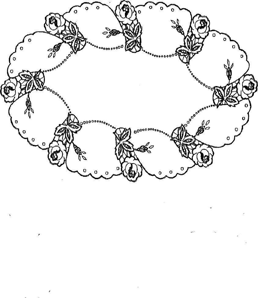 Ubrus ovál, 86 x 51 cm