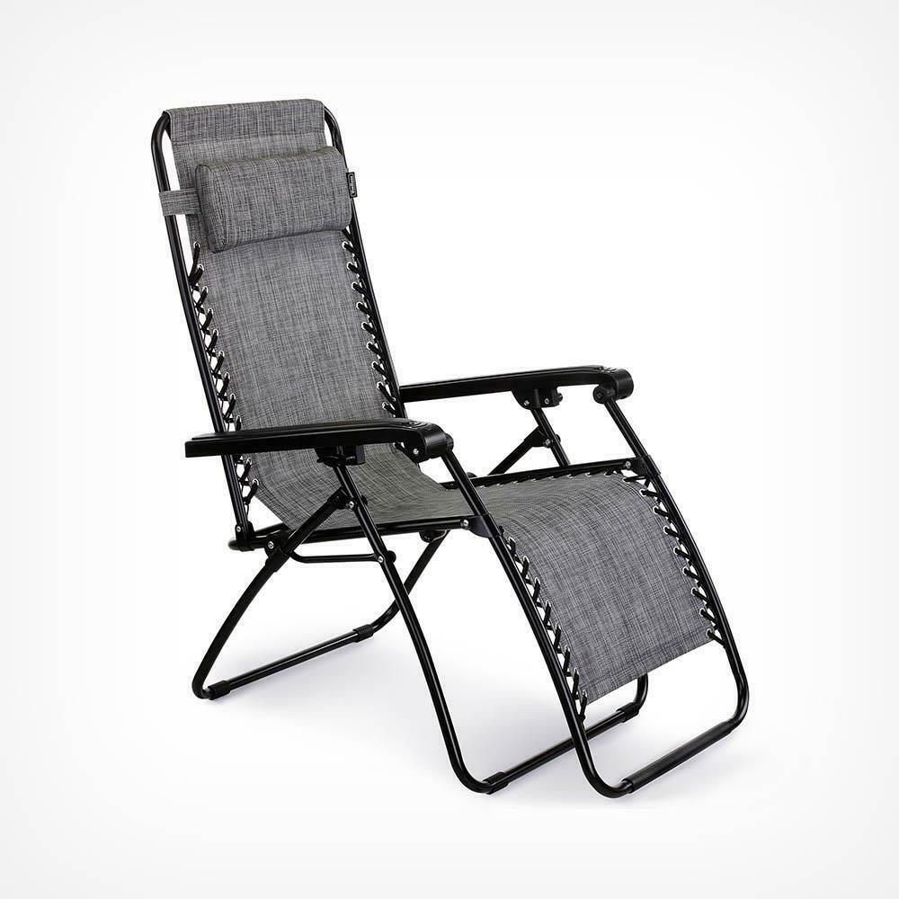 Prime Textoline Reclining Zero Gravity Garden Sun Lounger Chair Machost Co Dining Chair Design Ideas Machostcouk