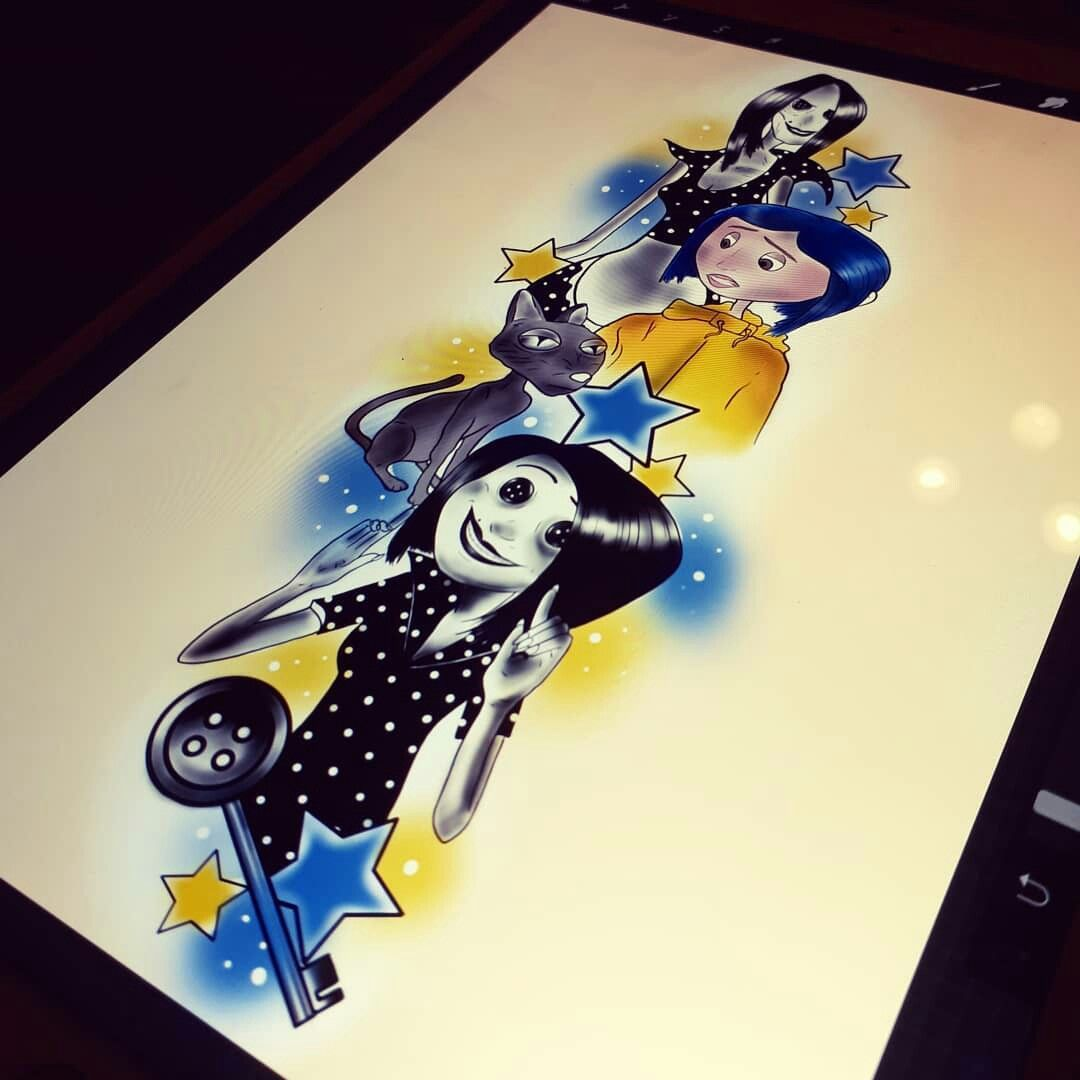 Pin By Lana Winchester On Halloween Drawings Coraline Art Coraline Drawing Nightmare Before Christmas Tattoo