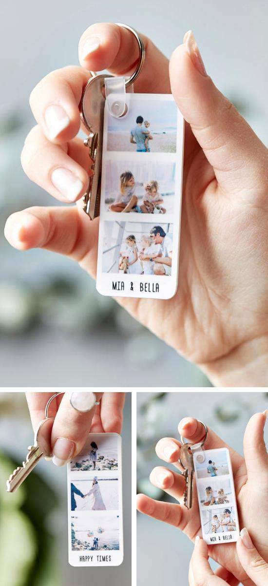Geschenkidee für Mama, Freundin oder Freund | Personalisierte Foto-Strip-Schlüsselanhänger #geschenkideenweihnachteneltern