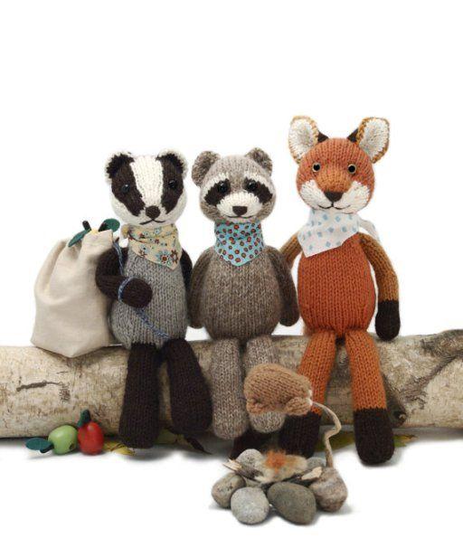 Knitting Patterns For Raccoon Badger Fox Backyard Bandits And More