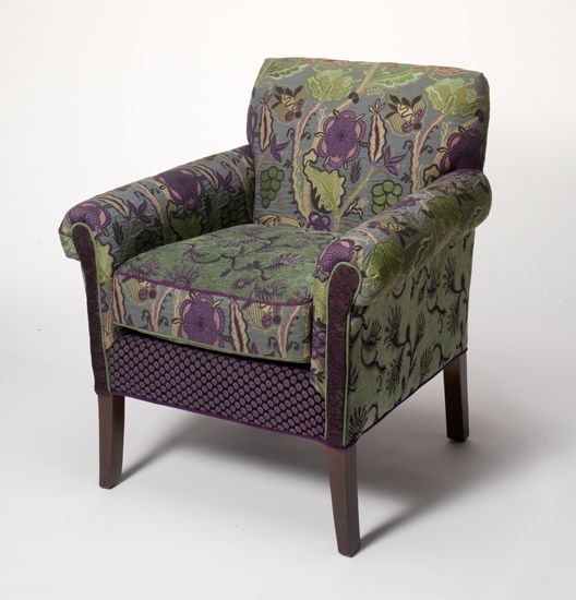 Salon Chair Rising Lily: Mary Lynn O'Shea: Upholstered Chair - Artful Home. Just discovered her today. If I win the lottery I will fill my home with her designs!!!